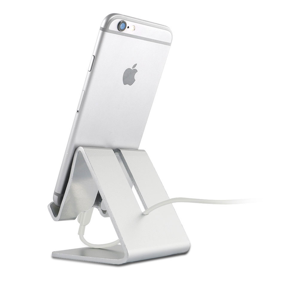 YeeSite Universal Aluminum Metal Mobile Phone Tablet Desk Holder Stand for iPhone 8 7 7Plus 6s 6 5s 5 Cellphone for Kindle Ebook