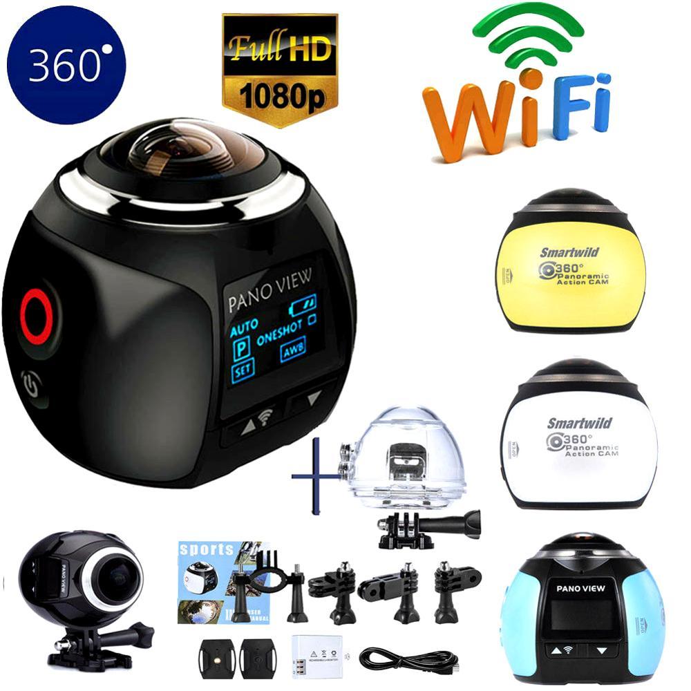 Sports 360 panoramique Ultra HD 4 K caméra Wifi 2448*2448 caméra d'action Portable caméscope étanche Sport conduite VR Sport caméra