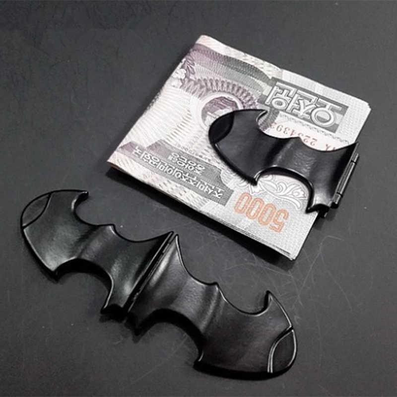 EDC คลิปเงินแม่เหล็กอัศวินกลางแจ้งแบบพกพา Batman พับโลหะ Batarang Unisex's โลหะผสมสังกะสีกระเป๋าสตางค์คลิป