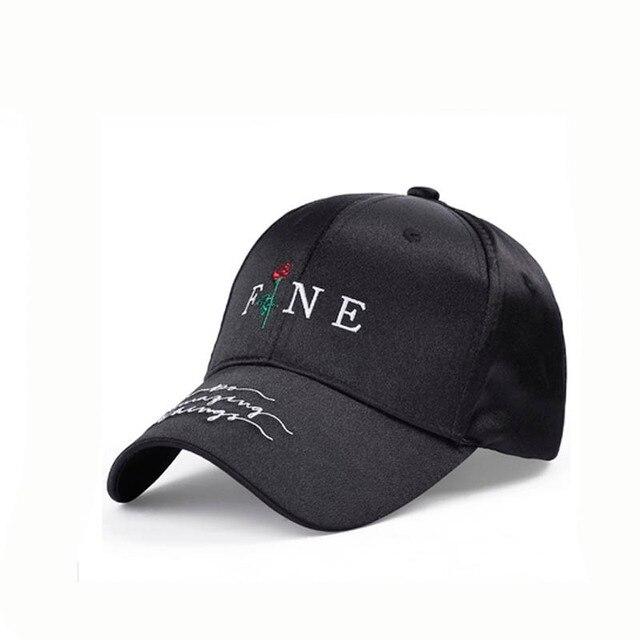 623db5b6 2018 Summer Red Rose Flower Baseball Cap Women Satin Embroidery Snapback Cap  Dad Hat Female Hip