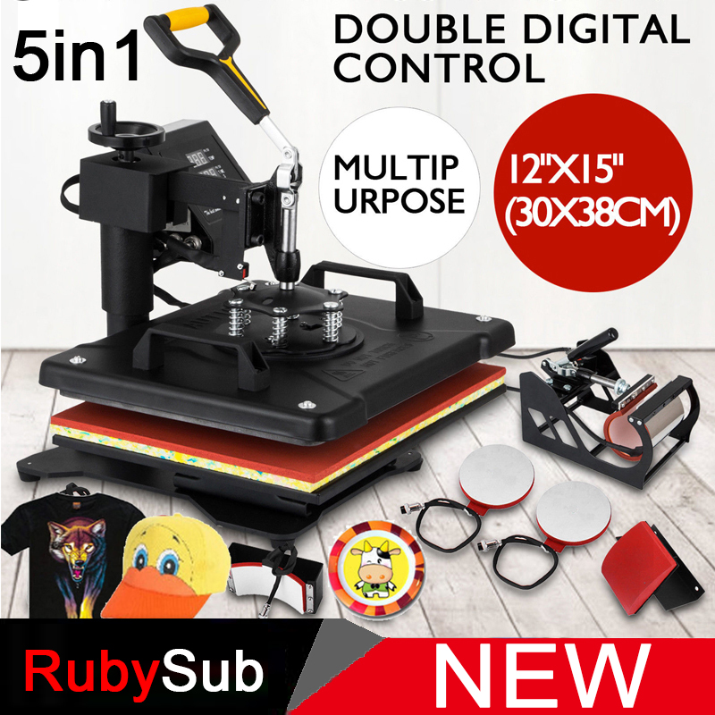 Promotion Advanced New Design 5 in 1 Combo Heat Press Machine Sublimation Heat Transfer For T shirt