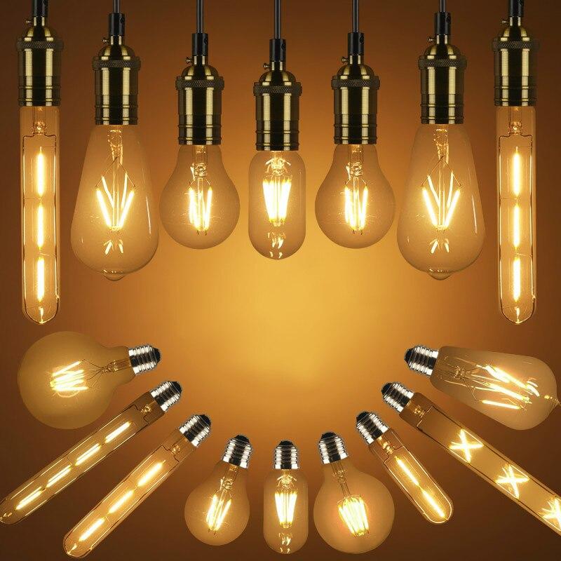 Energy saving LED bulb Edison 2W 4W 6W 8W E27 imitation tungsten wire transparent light bulb decorative lights indoor lighting