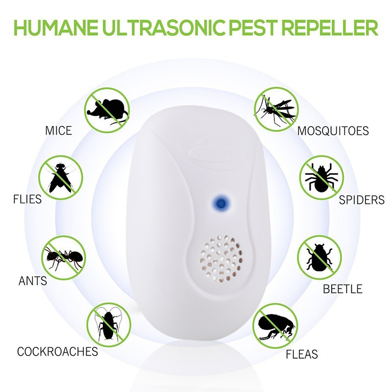 Mouse Expeller Rodent Repellent White 5W Cockroach Insect Killer Mice Mosquito Dispeller Ultrasonic Electronic Flie Mosquito
