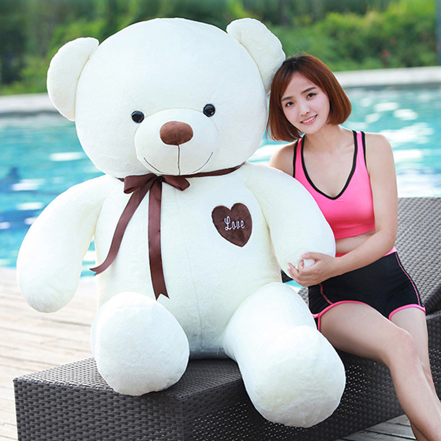 Soft Toys Teddy Bear Stuffed Plush Animals Giant Stuffed Bear Oyuncak Bebek Animal Pillows Kawaii Doll Birthday Gift 60G0515 2017 new year teddy bear plush toys high quality and low price skin holiday gift birthday gift valentine gift stuffed animals