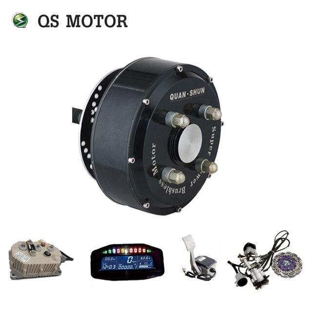 Kits de conversión de Motor de cubo de coche eléctrico QSMOTOR 72 V 90KPH Dual 3000 W en Kits de Motor de cubo de rueda para coche con Sabvoton controlador