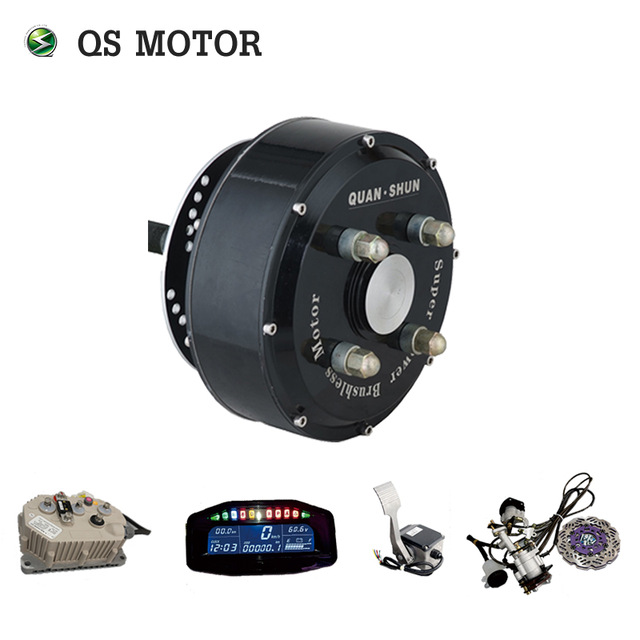 QSMOTOR 72 V 90KPH Kits de Conversion de moteur de moyeu de voiture électrique double 3000 W dans des Kits de moteur de moyeu de roue pour voiture avec contrôleur Sabvoton