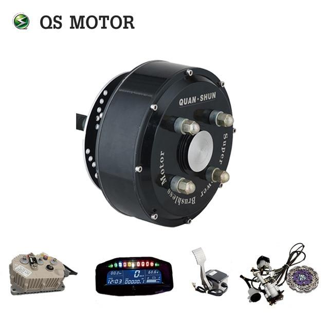 Qsmotor 72v 90kph Electric Car Hub Motor Conversion Kits Dual 3000w In Wheel