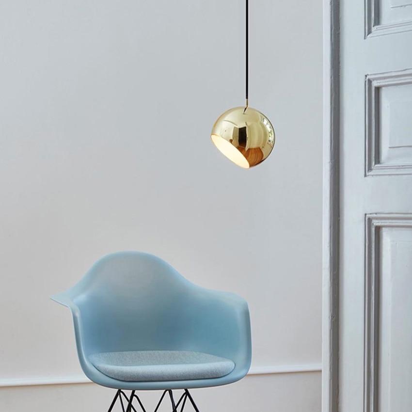 Post modern Restaurant Art Iron Pendant Lights Lighting LED Hemisphere Pendant Lamp Living Room Cafe Bar Hanging Lamps Luminaire in Pendant Lights from Lights Lighting