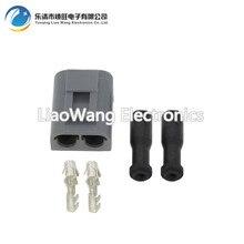 10 PCS Automotive waterproof connector 2pin with terminal block DJ3021S-3.5-21