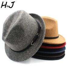3e4fd3a42ff Classico100% Wool Women Men Fedora Hat For Winter Autumn Elegant Lady  Gangster Trilby Felt Homburg