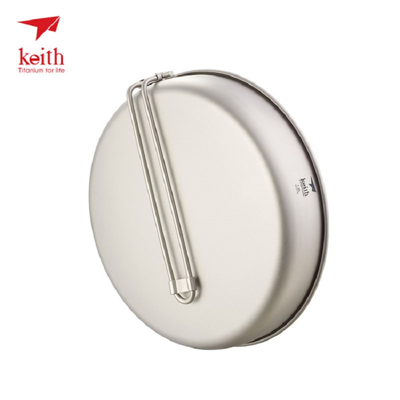 цена на Keith Titanium Nonstick Fry Pan Cookware for Outdoor Camping Cooking Picnic