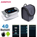 JUMPER Bluetooth Finger Pulse Oximeter New Oximetro De Pulso De Demo Digital Portable Bluetooth Blood Oxygen Saturation