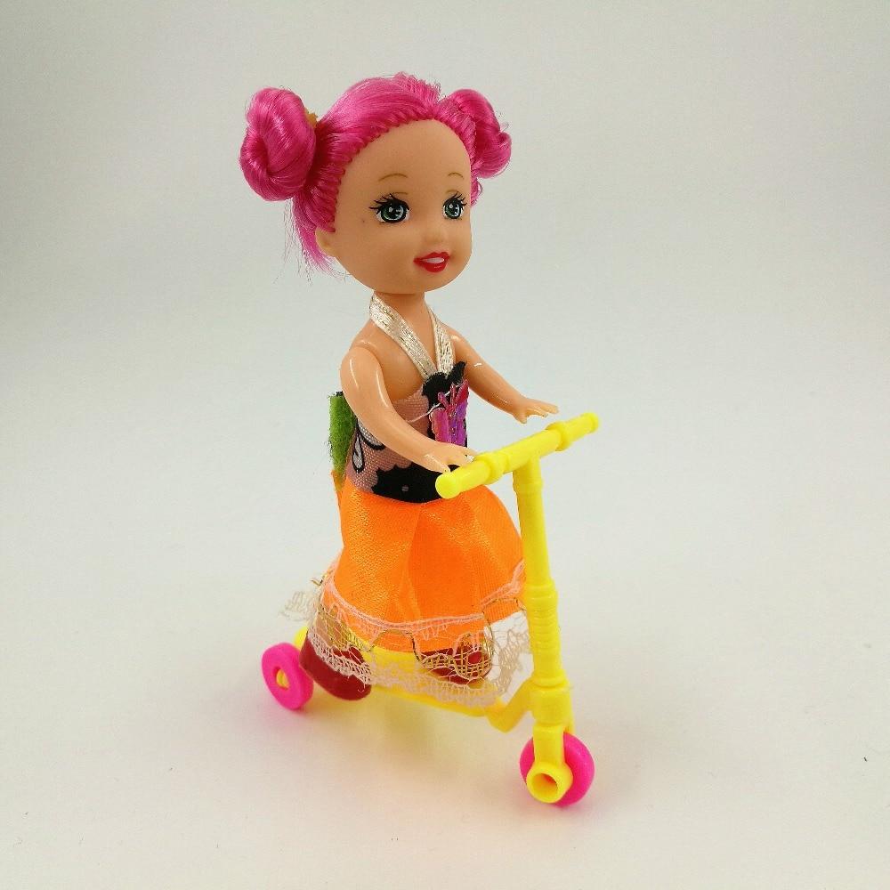 2 pcs Anak-anak Bayi Aksesoris Skuter Mini Mainan Untuk Barbie Gadis Hadiah  Ulang Tahun 2d2646c6d0
