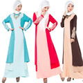 Estilo mulheres se vestem Xales Hijab Islâmico muçulmano one-piece vestido com cap formal e moda