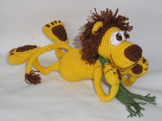 Amigurumi crochet León la muñeca Rattle juguete de regalo en ...