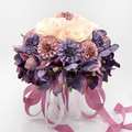 Top Quality Romantic Wedding Flowers White Wedding Bridesmaid Bridal Bouquets Artificial Rose Handmade Beautiful Wedding Bouquet