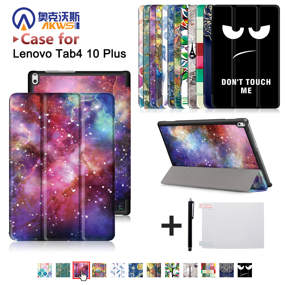 produktivita pack lenovo tab. 4 plus buy - cover case for Lenovo TAB 4 10 Plus TB-X704N TB-X704F Tablet (2020 released) printed case protective cover skin case+free gift