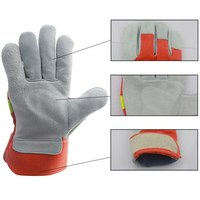 Safety Leather Fireproof Gloves Heat Resistant Fire Retardant Gloves With Fireproof Equipment Comfortable Fire Reflective Gloves   -