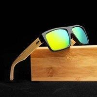 2018 бренд Дизайн древесины бамбука солнцезащитные очки Для женщин Для мужчин солнцезащитные очки акции цена Винтаж Цвет зеркальное покрыти...