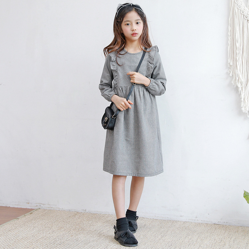 New 2019 Brand Baby Dress Toddler Girls Clothes Children Plaid Dress Girl Children Ruched Dress for Teenager Long Sleeve,#3884New 2019 Brand Baby Dress Toddler Girls Clothes Children Plaid Dress Girl Children Ruched Dress for Teenager Long Sleeve,#3884