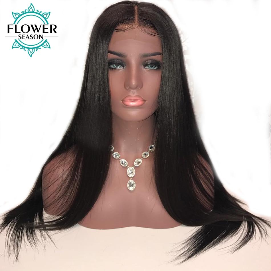 Oulaer 13 * 6 Natural Hairline Silky Straight Blonde Front Human Hair - Menneskehår (sort)
