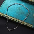 Подлинная 2016 100% Реального Стерлингового Серебра 925 Ожерелье Крест Толстые Цепи Мужчины ювелирные изделия Тайский серебряный Vintage Ожерелье для Человека Подарок