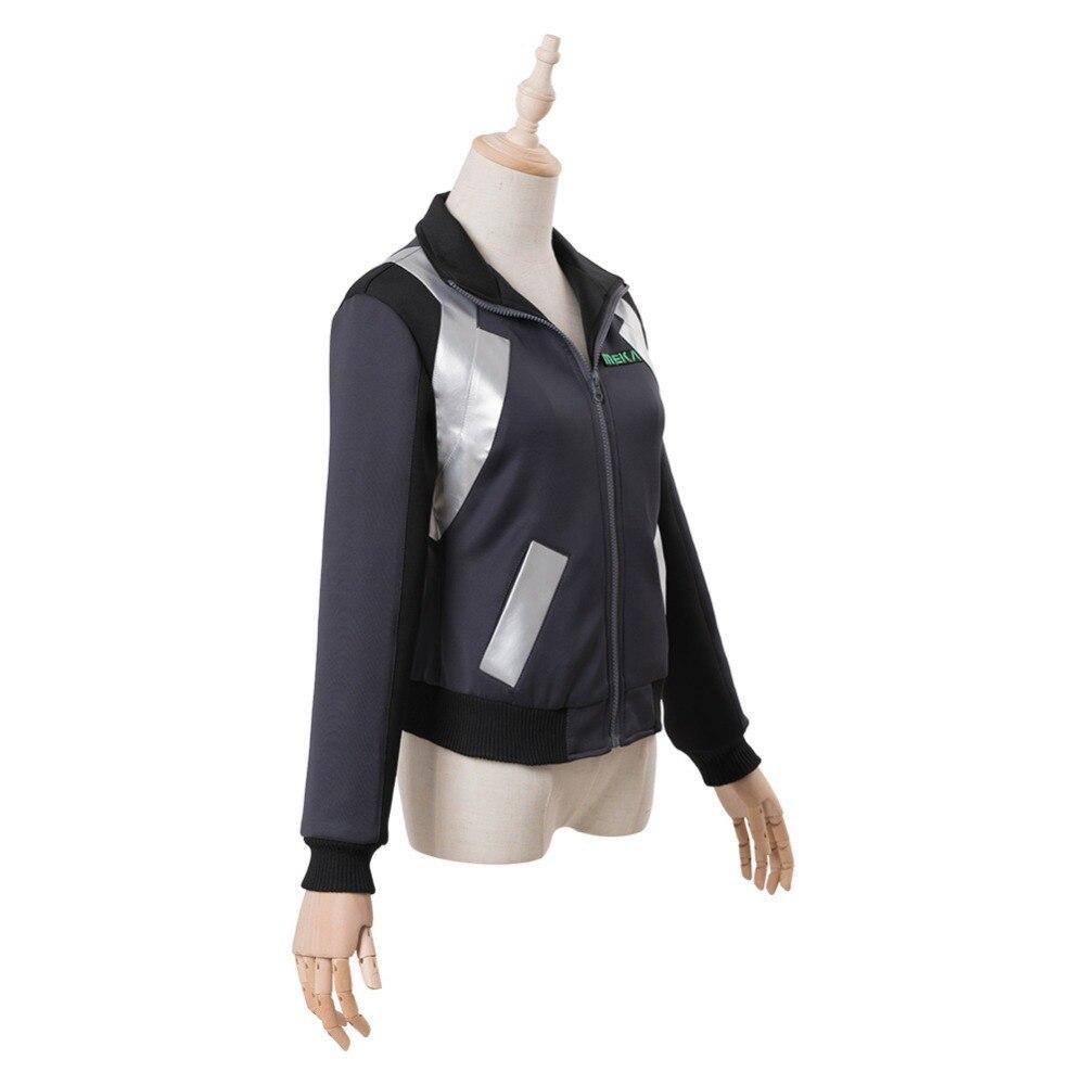 ¡Cosplay D Va DVA Hana canción Cosplay traje tiroteo chaqueta con estrella sudadera Halloween del traje de Cosplay de - 5