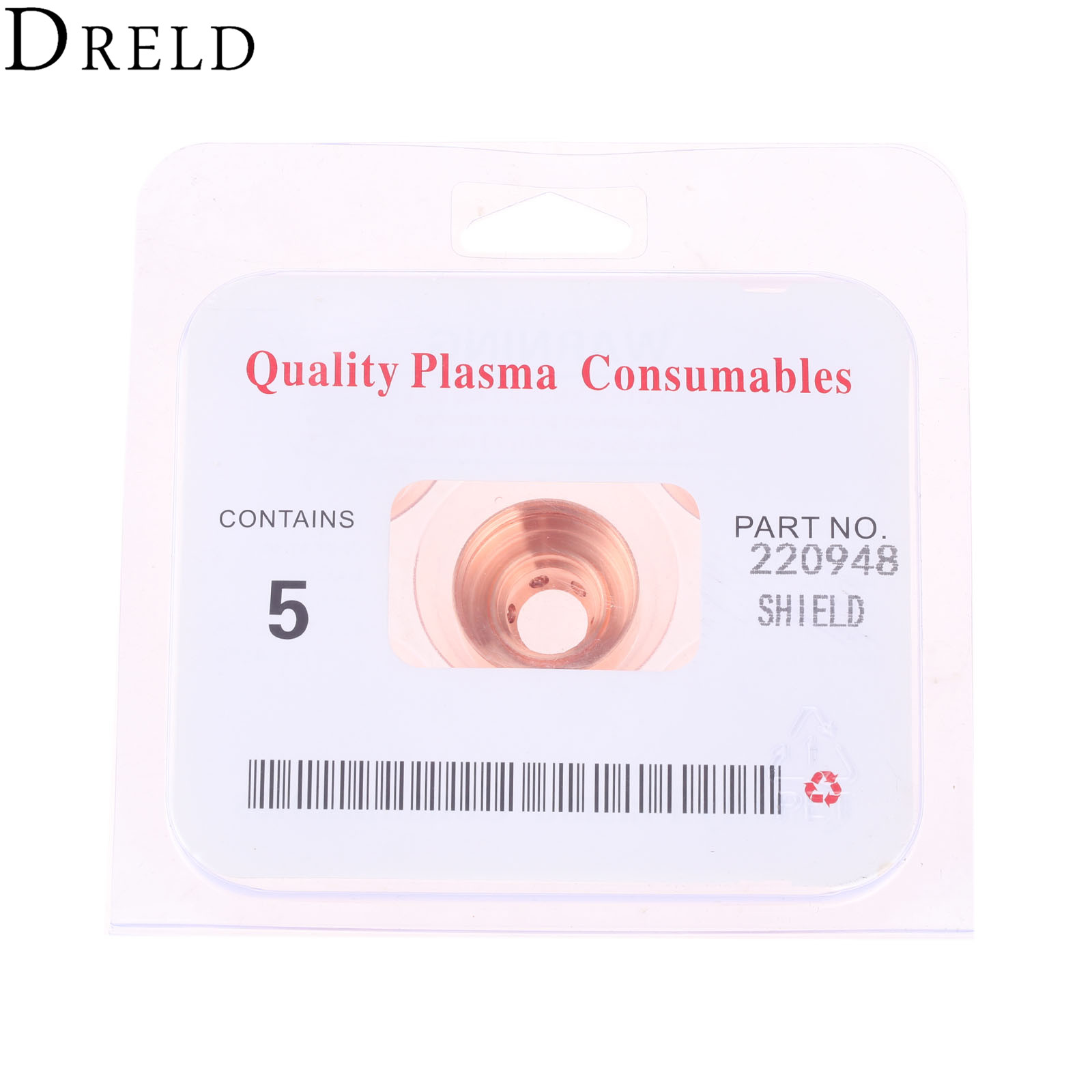 Image 5 - DRELD 5Pcs 45A Plasma Shield 220948 Fit For 65/85/105 Plasma Cutting Torch Consumables Welding Soldering Supplies ReplacementWelding Nozzles   -