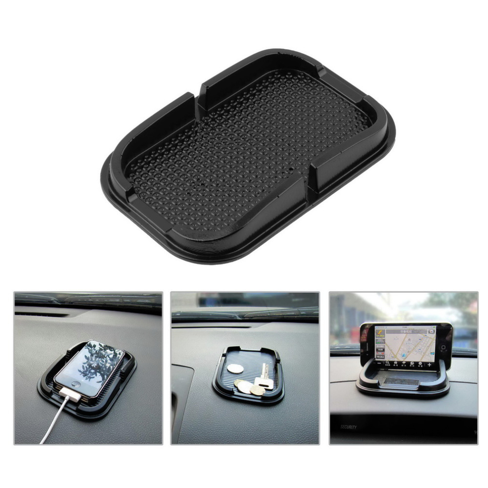 Black Car Dashboard Sticky Pad Mat Anti Non Slip Gadget Mobile Phone GPS Holder Stand Accessories Smartphones Guard Protector