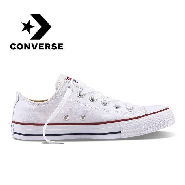 Converse All Star унисекс обувь для скейтбординга для мужчин Спорт на открытом воздухе Повседневные Классические парусиновые женские нескользящие кроссовки низкие кроссовки