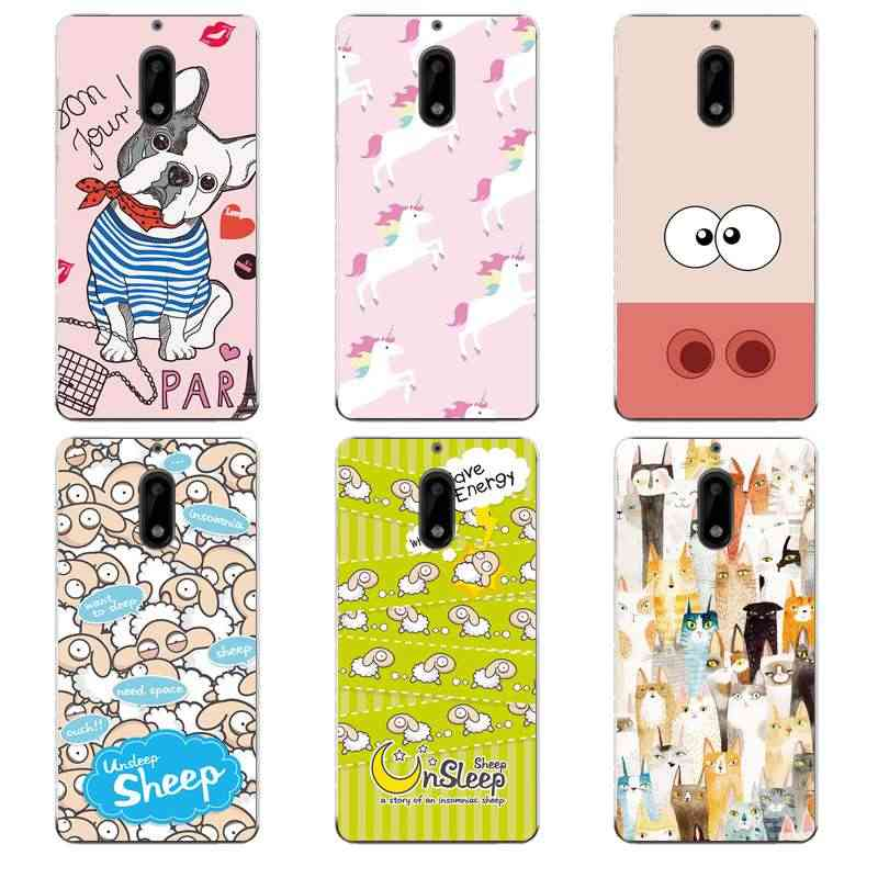 מקרה טלפון TPU רך סיליקון Nokia3 5 6 8 N540 N640 N535 N830 Cartoon חתול כלב סוס צפוף כריכה אחורית משלוח חינם