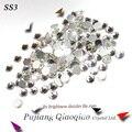 Super Brilhante SS3 (1.3-1.4mm) 1440 pçs/saco Crystal Clear cor 3D FlatBack Não HotFix Nail Art decorações de Strass Flatback