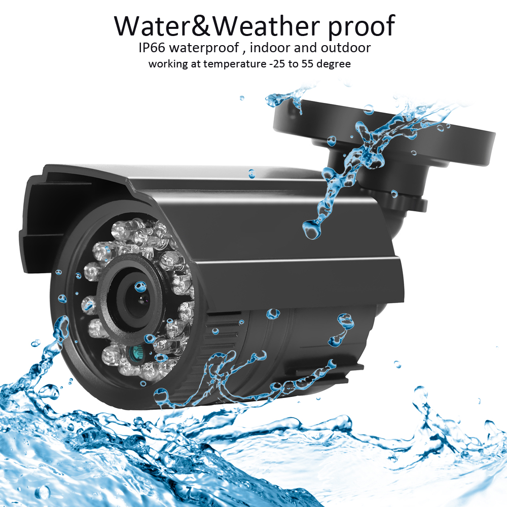 Image 3 - AZISHN CCTV Camera 800TVL/1000TVL  IR Cut Filter 24 Hour Day/Night Vision Video Outdoor Waterproof IR Bullet Surveillance Camera-in Surveillance Cameras from Security & Protection