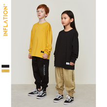 INFLATION Kids Sweatshirts Boys Streetwear Loose Thin 2019 Autumn Long Sleeve O-Neck Girls SW9602
