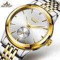 AESOP автоматические механические часы из нержавеющей стали для мужчин, роскошные золотые мужские наручные часы, водонепроницаемые мужские ч...