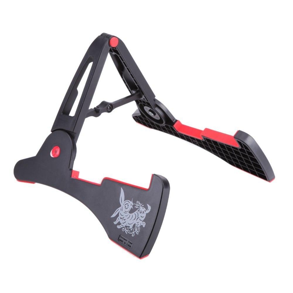 все цены на  Stand A-frame Holder Bracket for All Sizes of Guitars Basses Stringed Instrument Universal Compact Rabbit Shape Black  онлайн