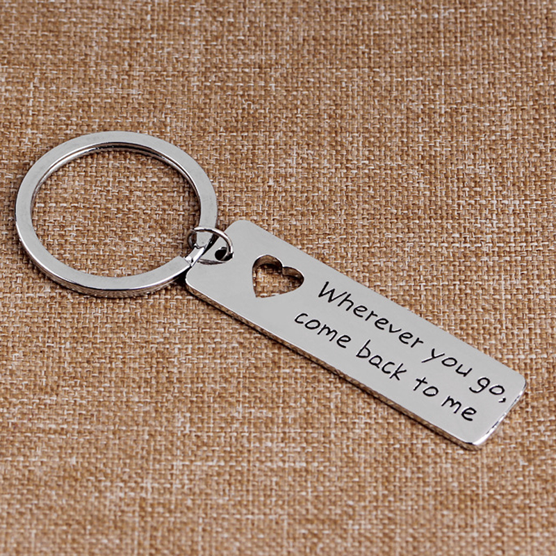 US $2 64 |Wherever You Go, Come Back To Me, Personalized Keychain, Gift for  Him, Keyring, Boyfriend Gift, Coordinate Key Chain-in Key Chains from