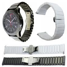 Ремешок керамический для Samsung Galaxy Watch 42 мм 46 мм, сменный Браслет с пряжкой бабочкой, 22 мм 20 мм