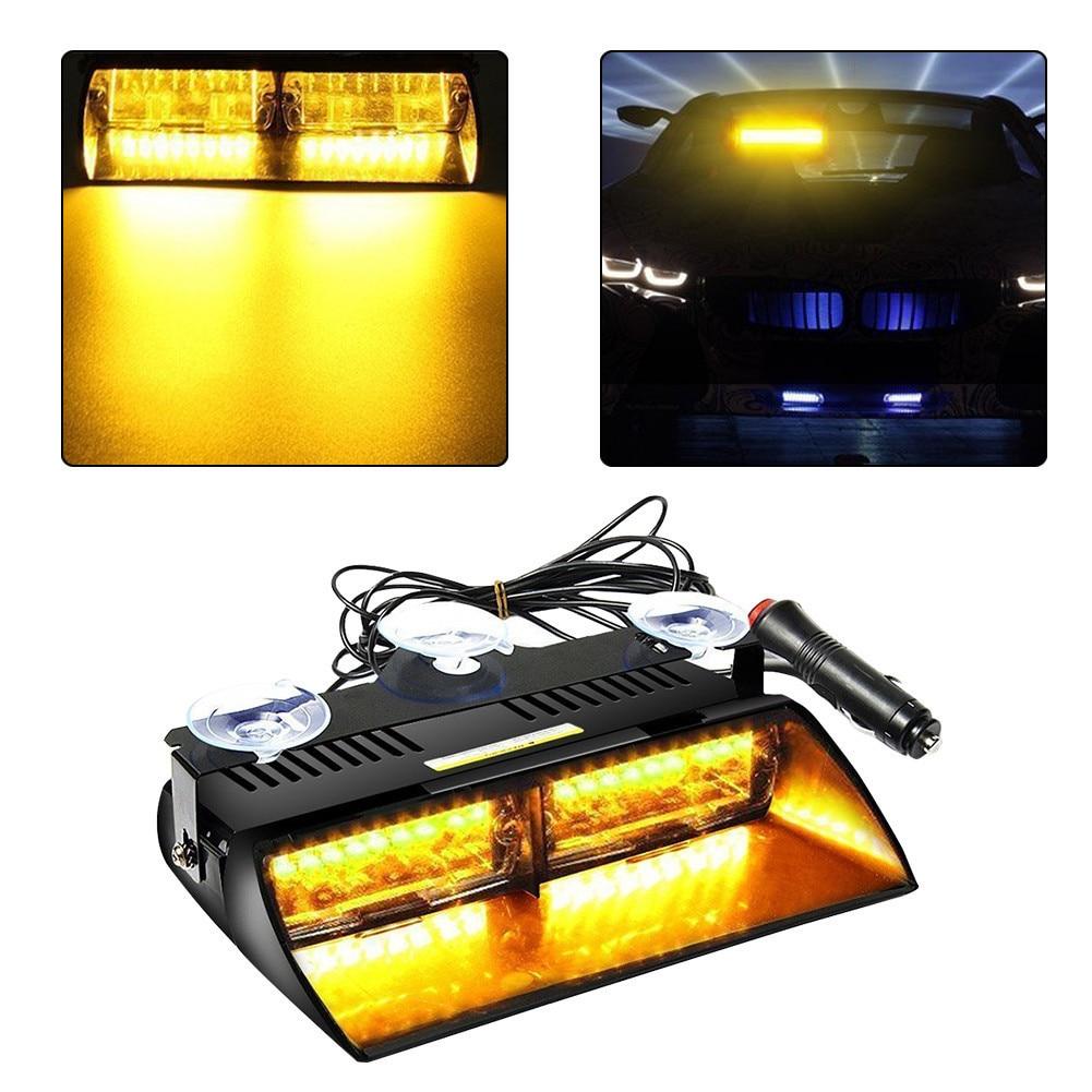 Car 18 LED Emergency Warning Flashing Strobe Light Lamp Suction Cup Yellow