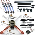 F06586-C Kit DIY RC Quadcopter FPV: Nylon Flamewheel + Alto Landing Skid + KK V2.9 + Controlador Do Motor de Carbono ESC