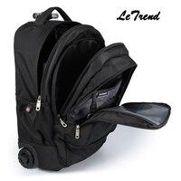 LeTrend многофункциональная новая сумка на колесиках для путешествий, сумка на плечо, рюкзак на колёсиках, 20 дюймов, мужская сумка на багажник,