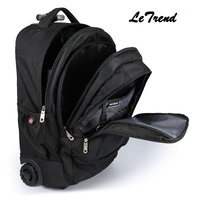 LeTrend Multi function New Travel Bag Trolley Case Shoulder Backpack Rolling Luggage 20 inch Men Carry On Trunk Suitcase Wheel