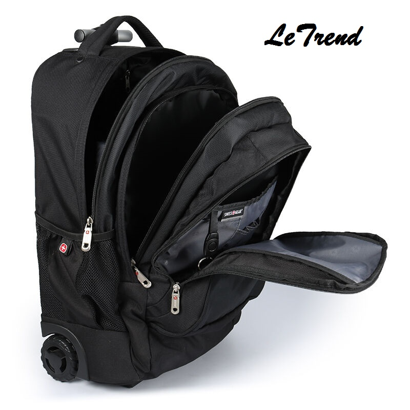 LeTrend Multi-function New Travel Bag Trolley Case Shoulder Backpack Rolling Luggage 20 inch Men Carry On Trunk Suitcase Wheel universal uheels trolley travel suitcase double shoulder backpack bag with rolling multilayer school bag commercial luggage