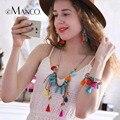 EManco Moda Bohemia Multicolor Tassel Colar & Brincos & Pulseira Conjuntos de Jóias para As Mulheres de Cristal Pingente de Acessórios de Cadeia