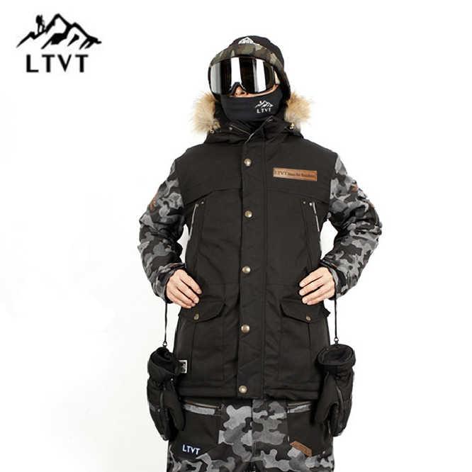 Ltvt Pria Wanita Ski Jaket Veneer Double Snowboard Pakaian Tahan Air Berlapis Tipis Versi Korea Baru Pria Ski Jaket
