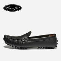 Size 35 50 Men Loafers Handmade Original HECRAFTED Brands Classic Men Flats 1216