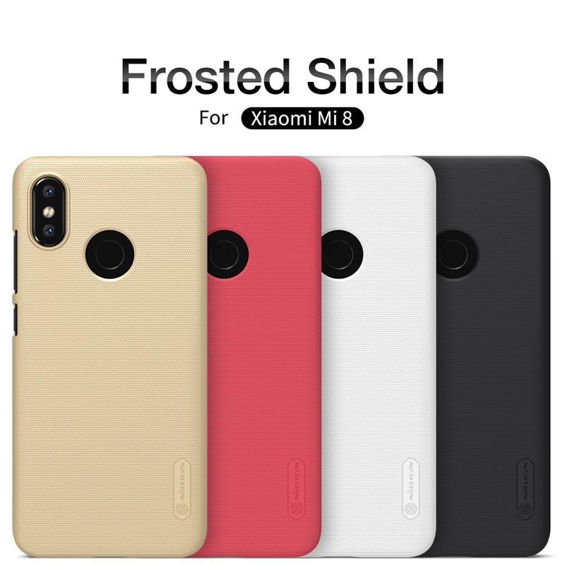 Xiaomi Mi 8 Case Xiaomi Mi8 Cover Nillkin Frosted Matte Case hard back cover for Xiao Mi 8 Cover Case gift screen protector