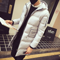2016 new arrival men's thick warm winter  fur collar army green men parka big yards long cotton coat jacket parka men