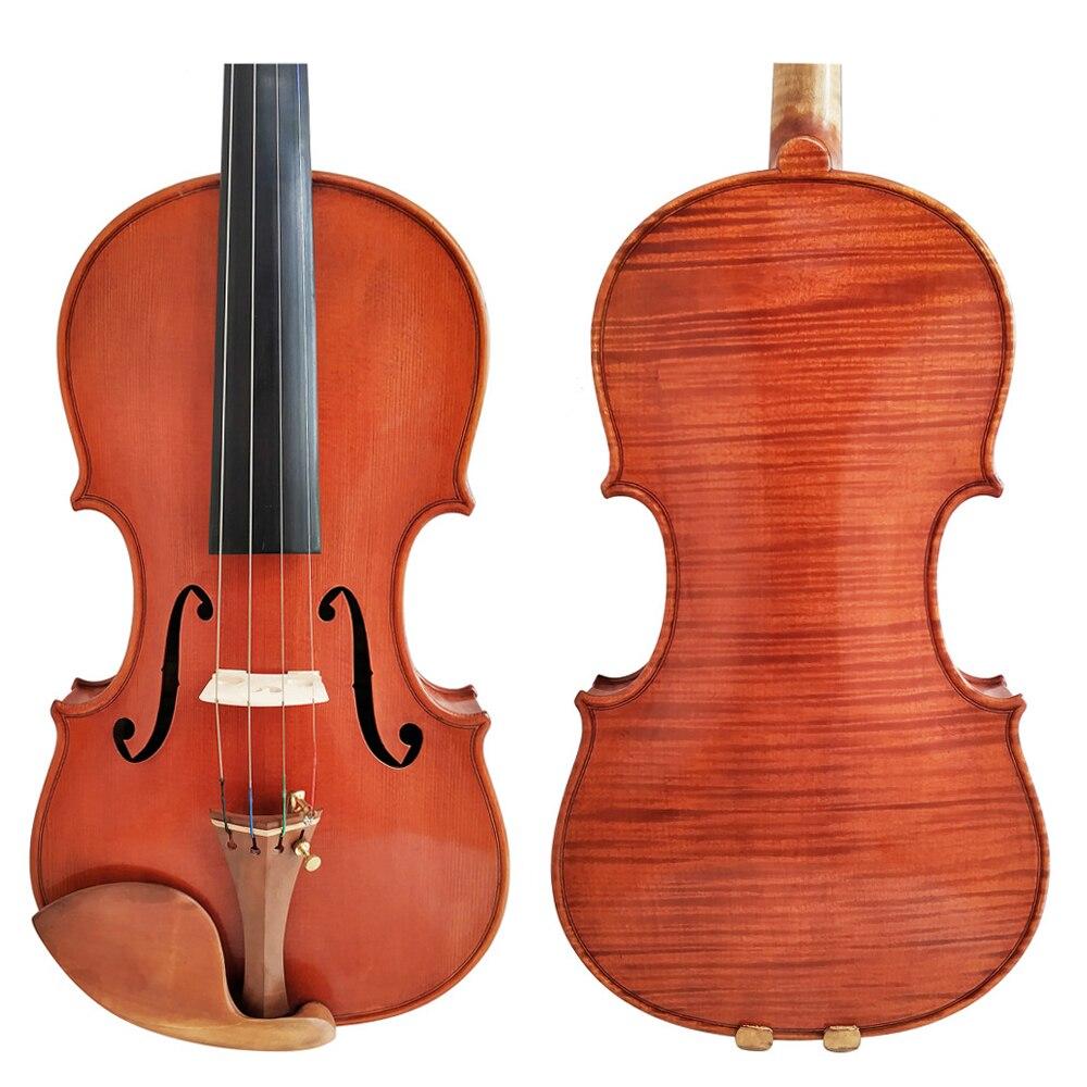 Free Shipping Copy Stradivarius 1716 100% Handmade Oil Varnish Violin FPVN04 + Carbon Fiber Bow Foam Case antique violin model stradivarius 1715 model 100