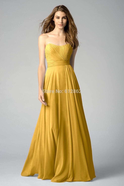 Strapless chiffon bridesmaid dresses yellow gold dress images strapless chiffon bridesmaid dresses yellow gold ombrellifo Gallery